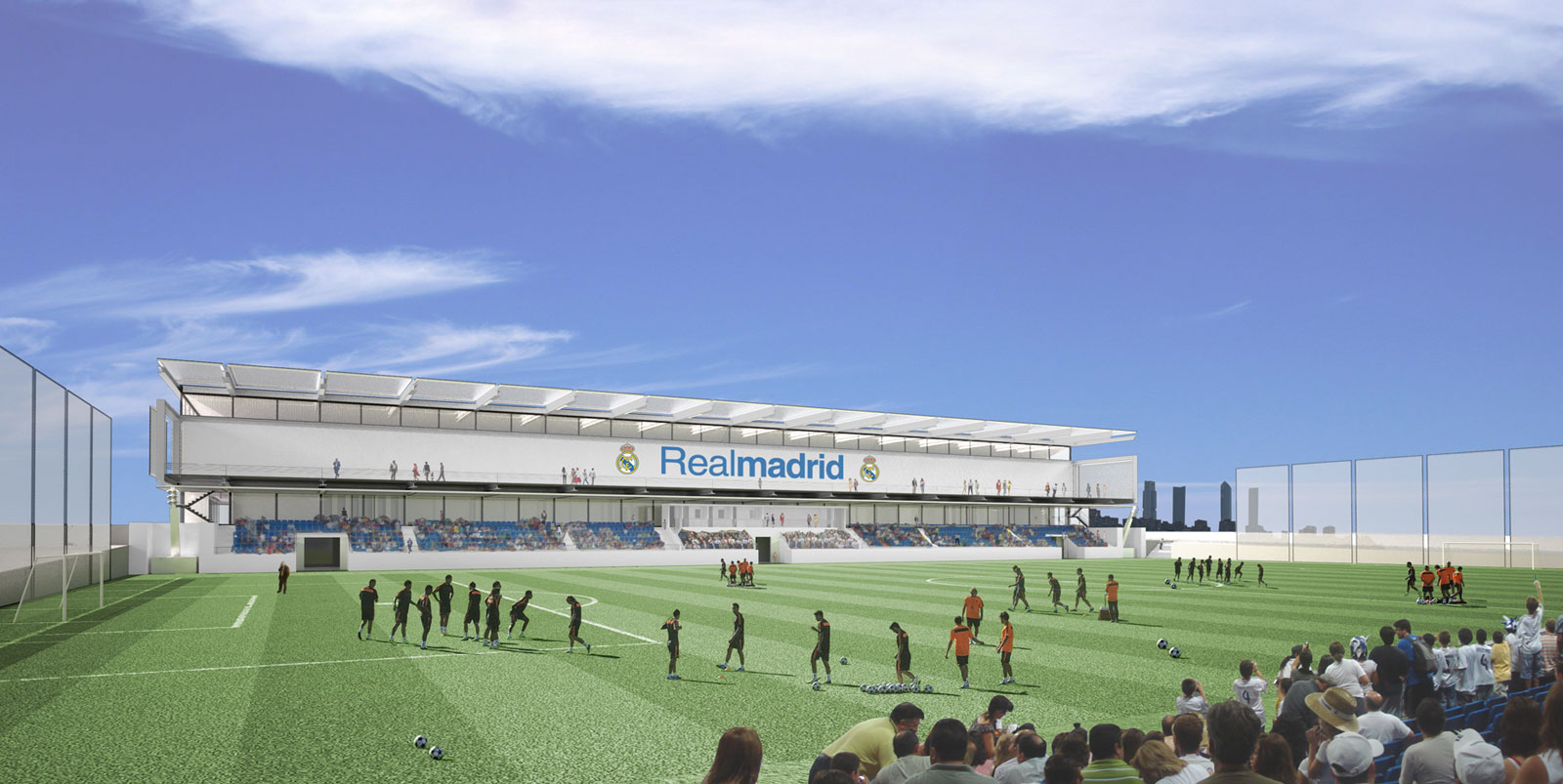 Proyectos pabellon deportivo real madrid allende for Real madrid oficinas telefono