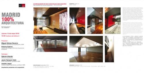 Exposici n madrid 100 arquitectura universidad europea for Universidades de arquitectura en espana